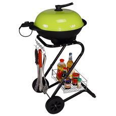 R.G.V. - Grill Barbecue Elettrico Colore Verde 1500 W