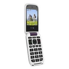"PhoneEasy 613 Senior Phone Display2.4"" Micro SD Bluetooth con Tasti Grandi + SOS Fotocamera Colore Bianco / Viola"