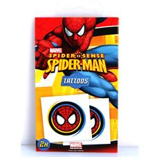 Tatuaggio Spiderman 2 Set 2 Pezzi Cm 5x5 Per Bambini 36 Mesi
