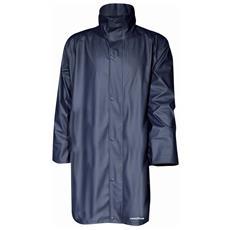 Cappotto Lungo Impermeabile In Pu Pvc E Poliestere Colore Blu Taglia M