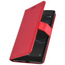 Custodia Sony Xperia L1 Modello Portafoglio + Funzione Supporto - Rossa