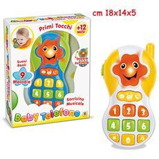 Giocattoli- Baby Telefono Sorrisino Musicale, Multicolore, 805668