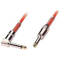 Cavo audio 6,3mm mono con un connettore ad angolo, 2m rosso