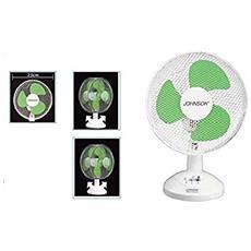 Ventilatore Da Tavolo 23cm Oscillante 2velocità Johnson Inclinazione Variabile