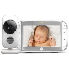 """Baby Monitor Video Digitale con schermo LCD a colori da 5.0"""" - MBP48 - Bianco"""