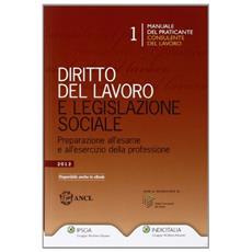 Diritto del lavoro e legislazione sociale. Preparazione all'esame e all'esercitazione della professione