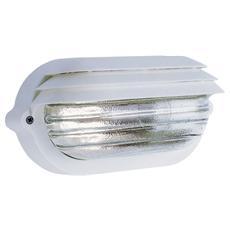 Plafoniera bianca esterno attacco a soffito o parete E27 22,5 x 11,5 x 11