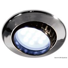 Plafoniera Comet 9 LED ABS cromato con interruttor