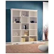 Libreria In Legno Colore Bianco Spigolato
