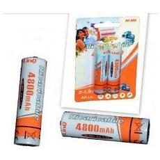 Blister 2 Batterie Ricaricabili Stilo AA 4800mAh (NM4800) Linq per fotocamera e altro