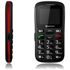 "PowerTel M6350 Senior Phone Display 1.77"" Micro SD con Tasti Grandi + SOS Colore Nero - Europa"