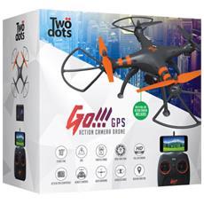 Drone GO 2.0 GPS + Camera + supporto GPS ed action camera full HD