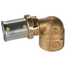 Rm129-g Raccordo Curvo 90° Filettato Femmina, A Pressare Giacomini X Gas