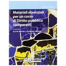 Materiali essenziali per un corso di diritto pubblico comparato