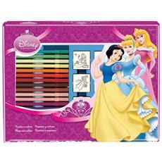 Valigiotto 7 Timbri + 12 Pennarelli Disney Principesse 4660