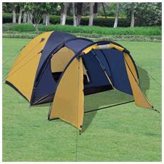 Tenda Per 4 Persone Gialla