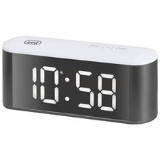 Orologio Sveglia Digitale Con Termometro E Grande Display Ec 883 Bl Bianco