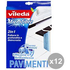 Set 12 Strofinaccio Pavimenti Microfibra Attrezzi Pulizie