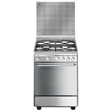 SMEG - CX6SV9 Cucina 4 Fuochi Gas Forno Elettrico...