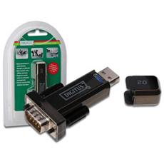 Converter, USB 2.0, D-Sub 9 Male, Maschio / maschio, Nero, Windows 98SE / 2000 / XP / Vista / Linux and Mac OS V8.6, PDA and modems