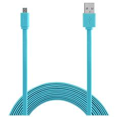 Micro USB to USB cable 1,5m Flat - Blue