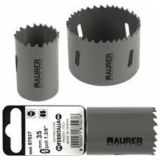 Fresa a Tazza Bimetallica Maurer Plus 64 mm per metalli, legno, alluminio, PVC