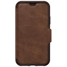 Flip Cover Custodia in Pelle per iPhone X Colore Marrone