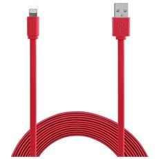 Apple Lightning cable 1,2m MFI Flat - Red