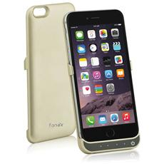 Power Skin Cover con Batteria Incorporata 3000 mAh per iPhone 6/6S Colore Oro