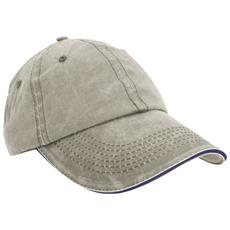 RESULT HEADWEAR - Cappellino Effetto Invecchiato 100% Cotone Uomo (taglia  Unica) (beige   blu Navy) d493b4dd0a2e
