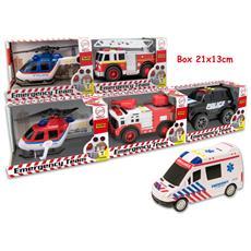 Veicoli Soccorso In Azione Con Suoni 6 Mdl Forze Dell'ordine / ambulanza, Multicolore, 8017967657316