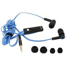 AUA41MIC, Stereofonico, Blu, Interno orecchio, Cablato, Play / pause, Track < , Track > , Volume +, Volume -, 3.5 mm (1/8&quot;)
