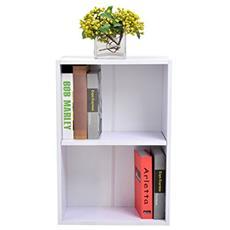 Libreria Mobile per Archiviazione con Mensola in Legno 40x24x61cm