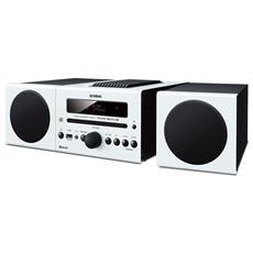 SIstema Micro Hi-Fi MCR-B043 Lettore CD Supporto MP3 / WMA Potenza Totale 30Watt Bluetooth USB colore Bianco