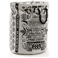 SELETTI - Portabiancheria In Cotone Laundry Bag Dimensioni H54 Cm X Ø 42 Cm