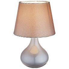 Globo Moderna Lampada Da Tavolo In Ceramica Grigio 21651