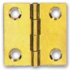 Cerniera per Mobili in Ottone Fresato Lucido Ala Piana 40X35 mm conf. 24 Pz