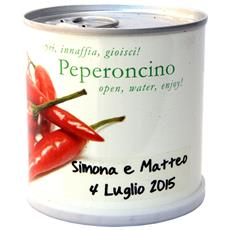 Bomboniere Naturali Personalizzabili Peperoncino Fiori In Lattina Macflowers Cm 7,5x8 H