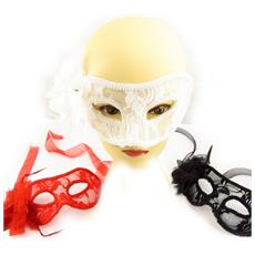 set di 3 maschere 'carnaval de venise' (pizzo) - [ k7145]