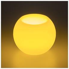 Candela Forma a Sfera Avorio LED B / 0 Fiamma in Movimento