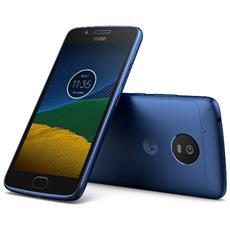 "Moto G5 Blu 16 GB 4G/LTE Display 5"" Full HD Slot Micro SD Fotocamera 13 Mpx Android Tim Italia"