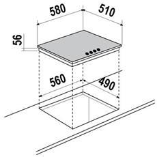 SCHOCK - Piano Cottura STI64L a Induzione 4 Zone Cottura da...