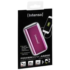 A5200, Rosa, Alluminio, Universale, Ioni di Litio, 5200 mAh, USB