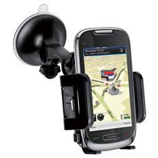 """Supporto Universale da Auto Freeway per Smartphone fino a 6"""" Nero"""
