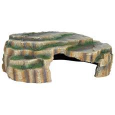 Grotta Per Rettili 30x10x25 Cm In Resina Poliestere 76212