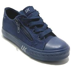 LUMBERJACK - Phillie Sneakers Low Con Zip In Tela Blu - 33 Blu d0d2df29d4d