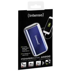 A5200, Ioni di Litio, USB, Blu, micro USB, Alluminio, Universale
