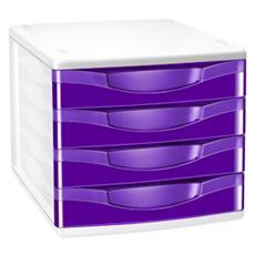 cassettiera a 4 cassetti viola cepboxgloss 894 g