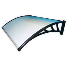 Pensilina da esterno in policarbonato in kit montaggio 100x80 cm