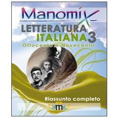 di letteratura italiana. Vol. 3
